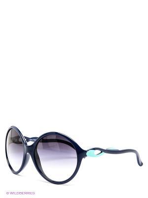 Солнцезащитные очки Franco Sordelli. Цвет: синий, бирюзовый