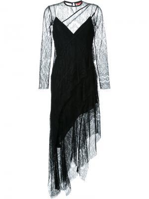 Кружевное платье Frill Seekers Manning Cartell. Цвет: чёрный