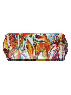 Поднос Gift'n'Home. Цвет: оранжевый, коричневый, голубой, сиреневый, малиновый