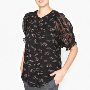 Рубашка с рисунком NINJI SESSUN. Цвет: черный