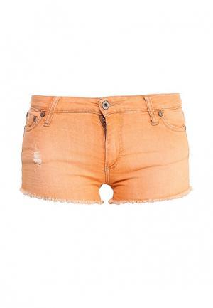 Шорты джинсовые Please. Цвет: оранжевый