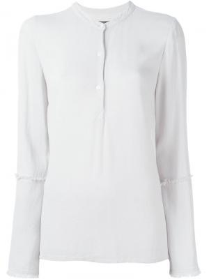 Блузка с расклушенными рукавами Raquel Allegra. Цвет: белый