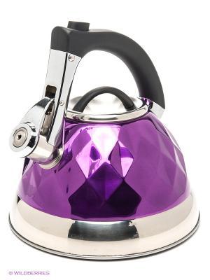 Чайник, 3,2 л Bekker. Цвет: фиолетовый, серый