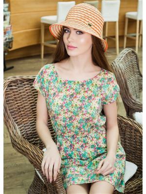 Шляпа AVANTA. Цвет: бежевый, оранжевый