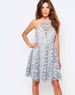 Keepsake Кружевное платье Acoustic. Цвет: серый