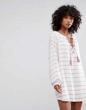 D.RA Платье-туника Montecito. Цвет: белый