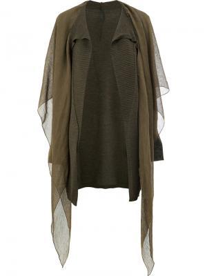 Пальто-кардиган с драпировкой Masnada. Цвет: зелёный