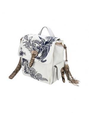 Рюкзаки и сумки на пояс ROBERTO CAVALLI. Цвет: белый