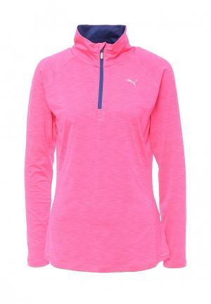 Лонгслив спортивный Puma. Цвет: розовый