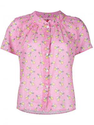 Блузка с узором и оборками Ultràchic. Цвет: розовый и фиолетовый