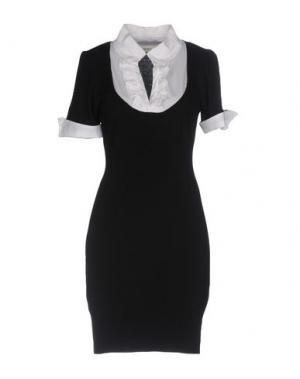Короткое платье AGATHA CRI. Цвет: черный