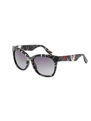 Солнцезащитные очки McQueen. Цвет: серый, черный