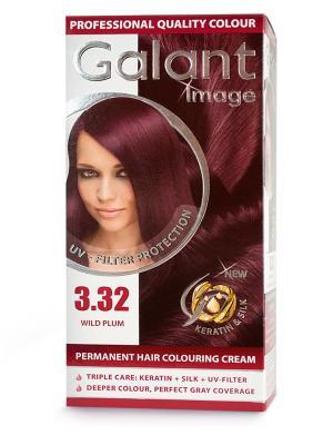 Cтойкая крем-краска для волос  GALANT 3.32 дикая слива, 115мл.,(Болгария) Image. Цвет: сливовый