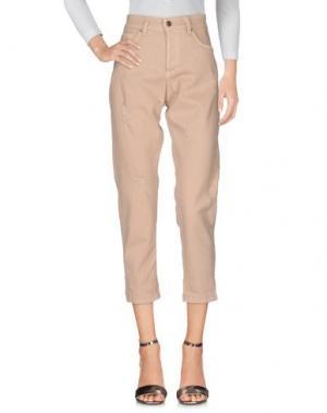Джинсовые брюки SOUVENIR. Цвет: светло-розовый
