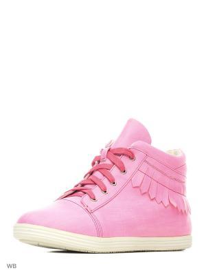 Ботинки Bagira. Цвет: розовый