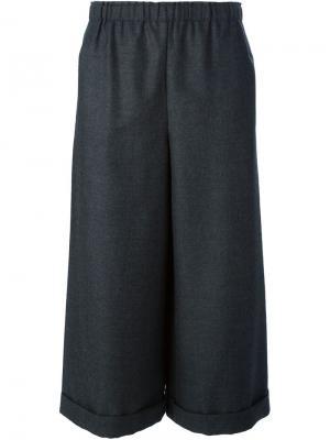 Укороченные брюки-юбка Daniela Gregis. Цвет: серый