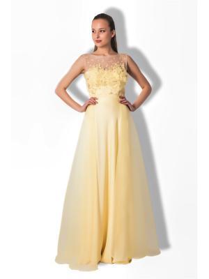 Платье SEAM. Цвет: светло-желтый
