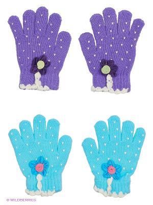 Перчатки, 2 пары FOMAS. Цвет: синий, голубой