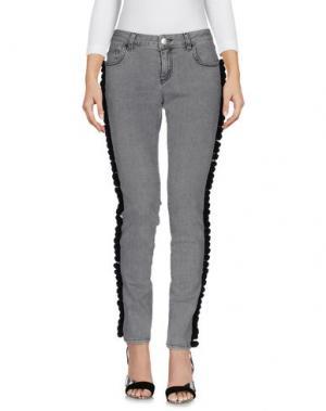 Джинсовые брюки AU JOUR LE. Цвет: серый