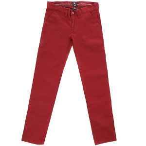 Штаны узкие детские DC Wrk Slm Chno By Syrah Shoes. Цвет: бордовый