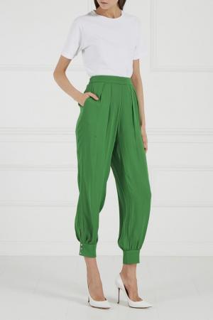 Хлопковые брюки-шаровары Castelbajac. Цвет: зеленый