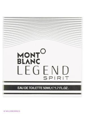 Туалетная вода Montblanc LEGEND SPIRIT FOR MEN EDT SPRAY 50 ML. Цвет: прозрачный
