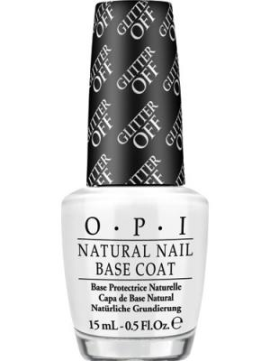 Opi Базовое покрытие для глиттерных текстур марки Glitter Off Natural Nail Base Coat, 15 мл. Цвет: прозрачный