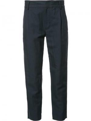 Укороченные брюки прямого кроя Vince. Цвет: синий
