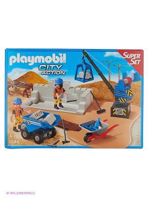 Супер набор: Стройка Playmobil. Цвет: коричневый