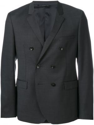 Двубортный пиджак Tonello. Цвет: серый