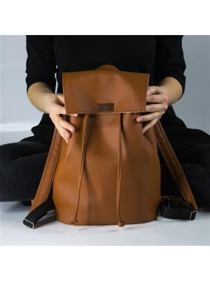 Рюкзак из экокожи KARP home project. Цвет: бронзовый, рыжий