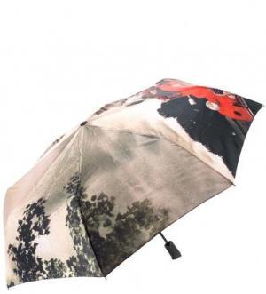 Автоматический зонт с восьмью спицами в три сложения FLIORAJ. Цвет: бежевый