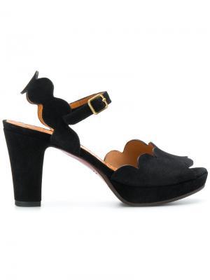 Босоножки на каблуках  Evolet Chie Mihara. Цвет: чёрный