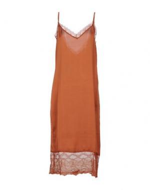 Платье длиной 3/4 SOUVENIR. Цвет: ржаво-коричневый