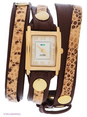 Часы La Mer Collections. Цвет: бежевый, темно-коричневый, золотистый