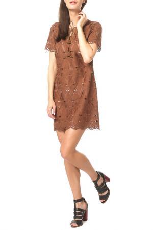 Платье DEBY DEBO. Цвет: cognac