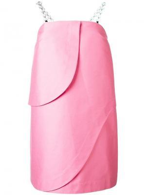 Короткое платье без бретелек Isa Arfen. Цвет: розовый и фиолетовый