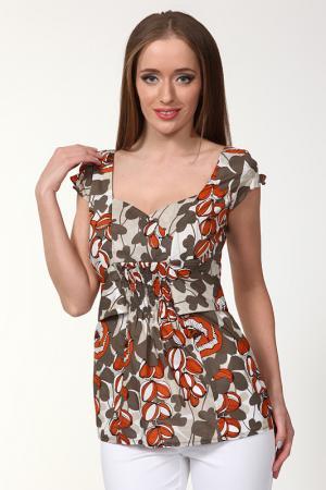 Блуза NVCollection. Цвет: коричневый