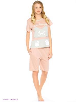 Пижама Kitten (розовая) Kawaii Factory. Цвет: розовый, серый