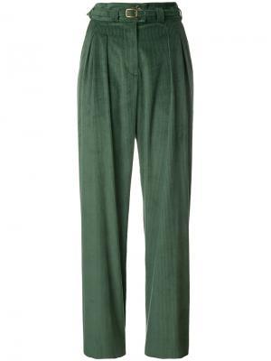 Вельветовые брюки A.P.C.. Цвет: зелёный