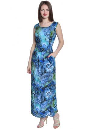 Платье Rise. Цвет: синий (бирюзовый, темно-синий)