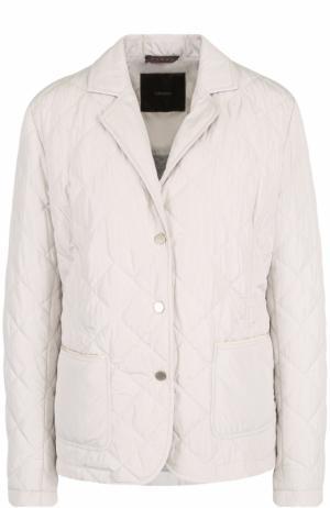 Стеганая куртка с отложным воротником Windsor. Цвет: бежевый