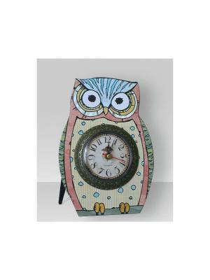 Часы настольные Пятнистая совушка Magic Home. Цвет: белый