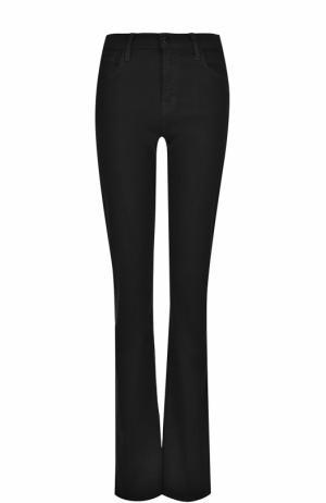 Однотонные расклешенные джинсы J Brand. Цвет: черный