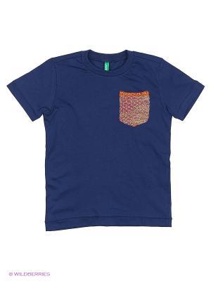 Футболка United Colors of Benetton. Цвет: темно-синий, темно-фиолетовый