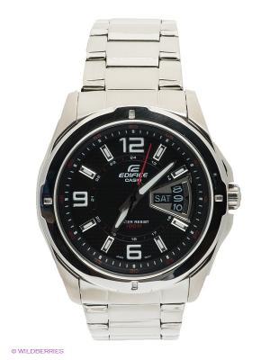 Часы EDIFICE EF-129D-1A CASIO. Цвет: серебристый, черный