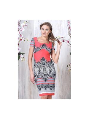 Платье Cariba. Цвет: коралловый
