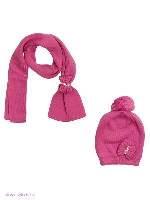 Комплект  (шапка,шарф) R&I. Цвет: малиновый