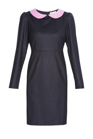 Платье из шерсти 136802 Villa Turgenev. Цвет: синий