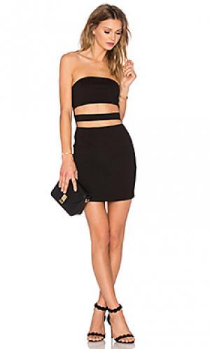 Платье magnetic attraction NBD. Цвет: черный